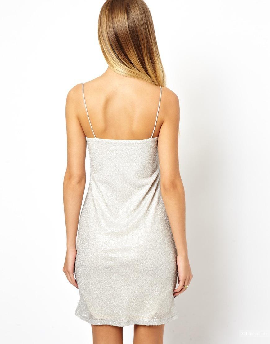 Платье в пайетках на тонких бретелях Asos