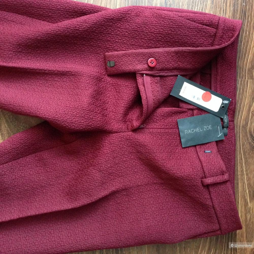 RACHEL ZOE шикарные узкие брючки с выработкой ткани с ценником 235$ р.44 Новые