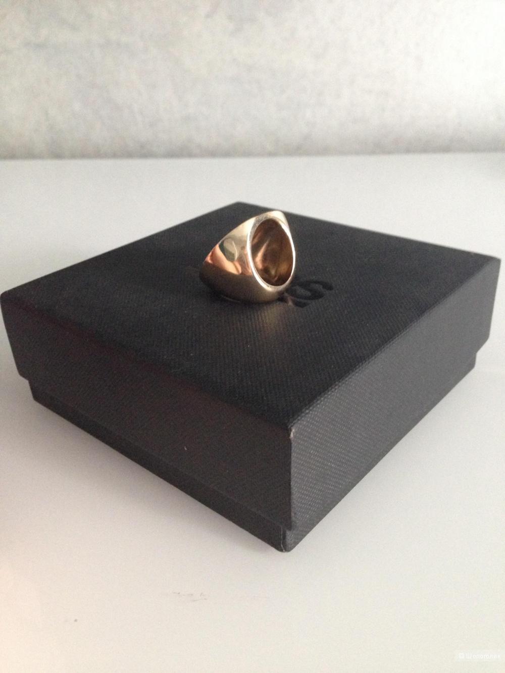 Коктейльное кольцо колор-блок ASOS, размер S