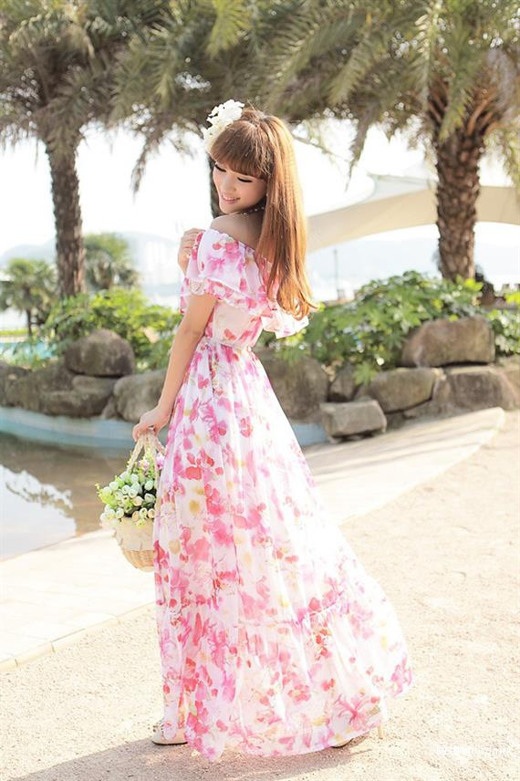 Шифоновое платье в цветочек