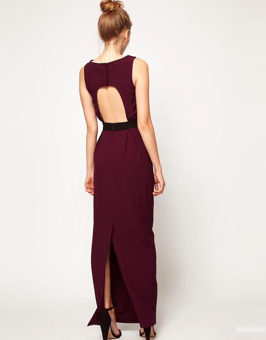 Платье макси с вырезом на спине A Wear