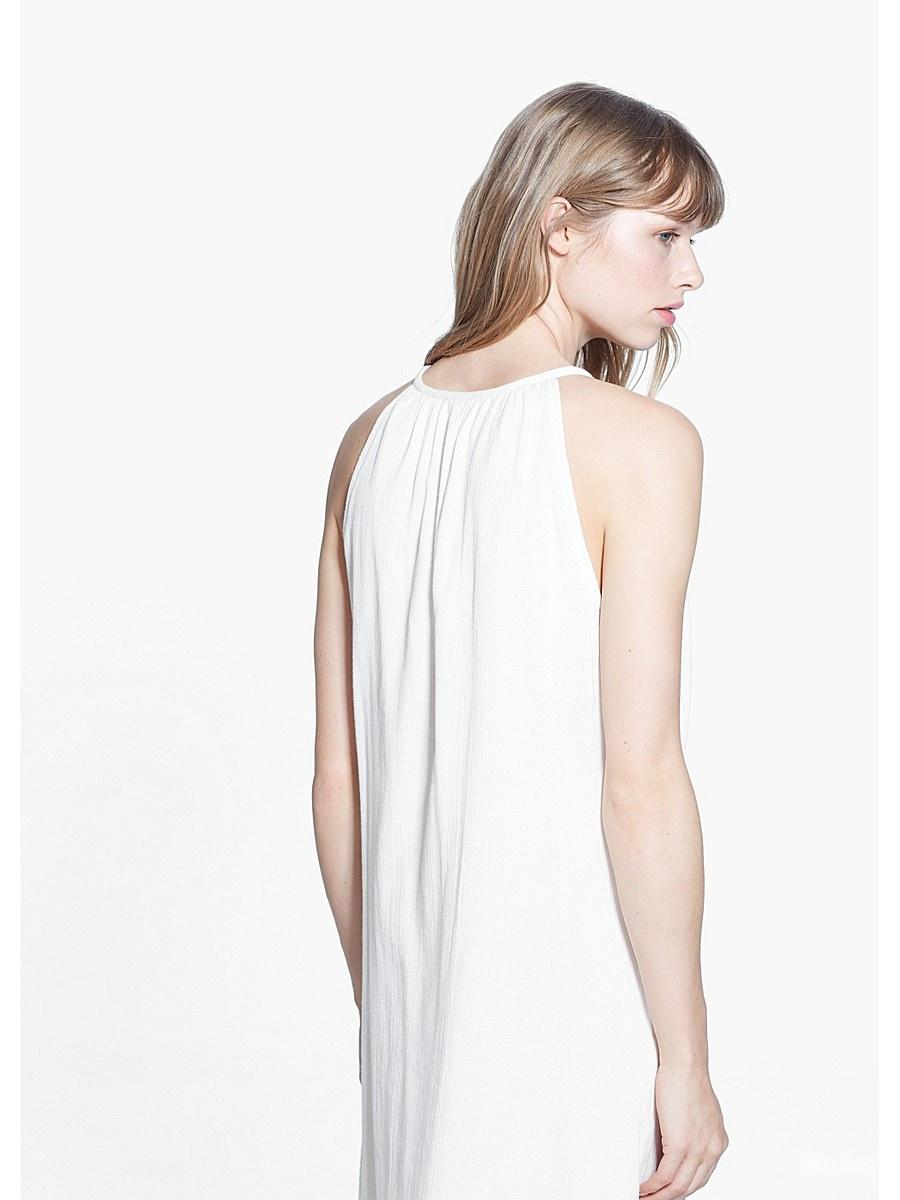 Вискозное платье MANGO