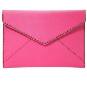Клатч розовый кожаный Rebecca Minkoff