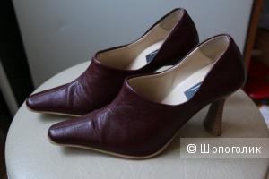 Туфли натуральная кожа ELCHE  36 -37(узкая) р-ра (нога должна быть менее 24 см в длину!)