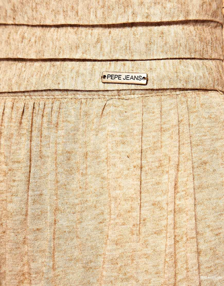 Классная трикотажная юбка макси Pepe Jeans