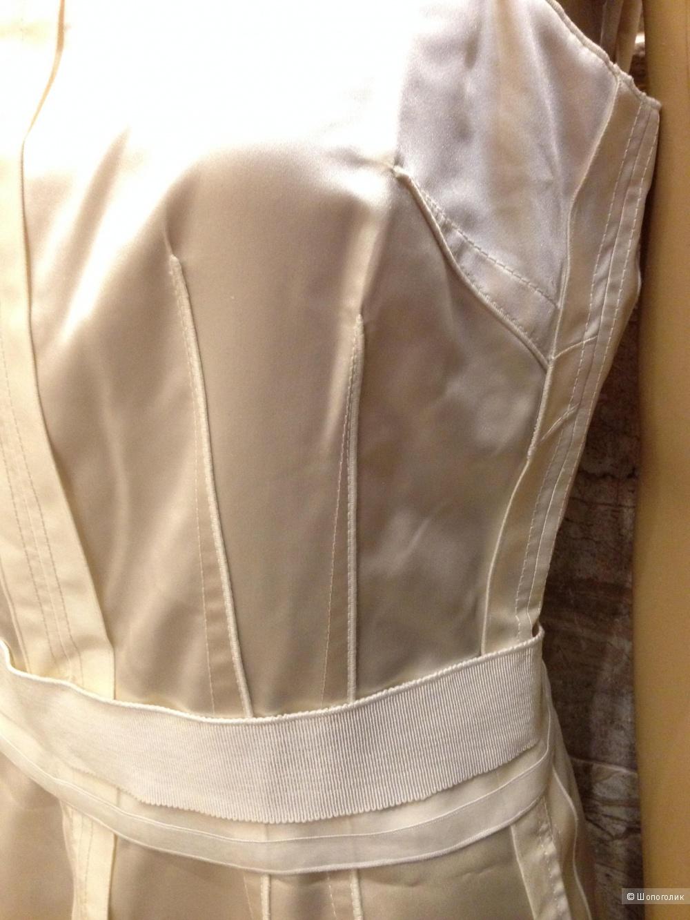 """DOLCE&GABBANA платье от кутюр класса """"люкс"""" жемчужно-золотого цвета р.44 Новое.Оригинал 1200$"""
