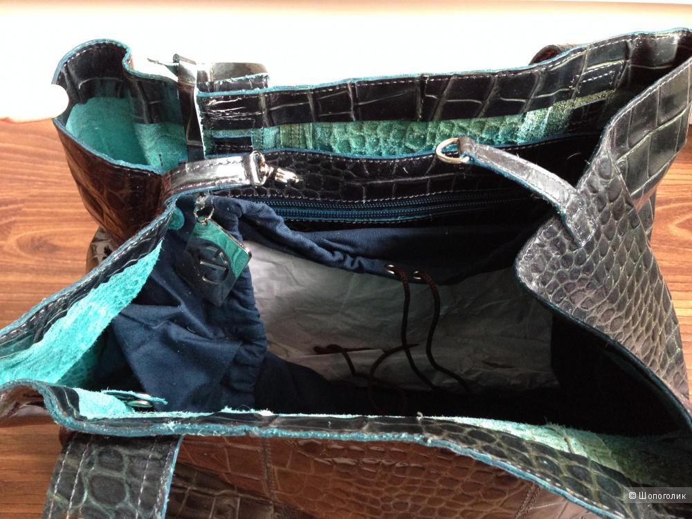 Francesco Biasa итальянская сумка кожа кроко Новая
