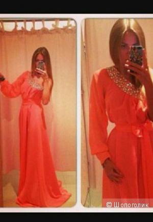 Шифоновое платье в пол S