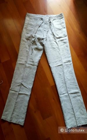 Новые мужские льняные брюки Toscana Aqua
