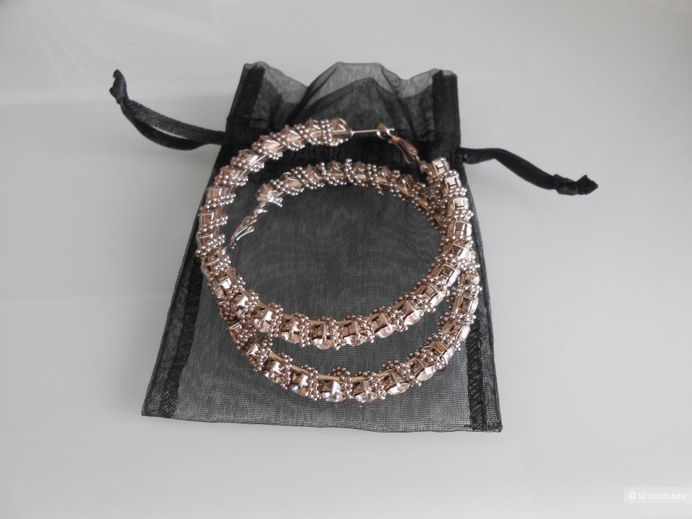 Крупные серьги-кольца