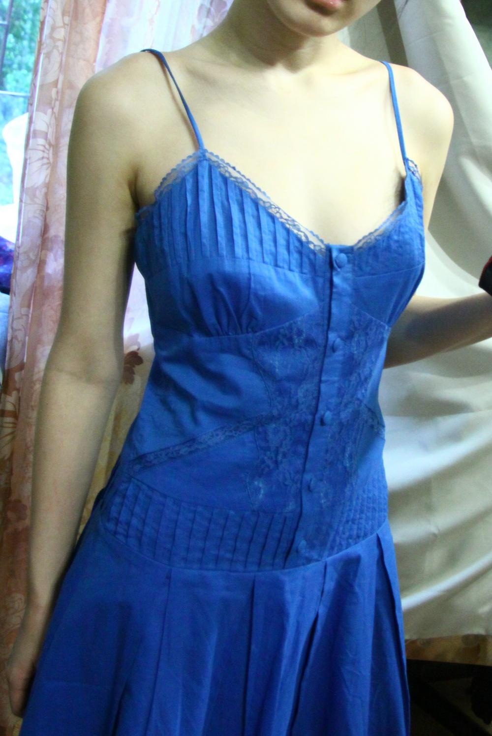 Чудесный сине-голубой саранфанчик на лето