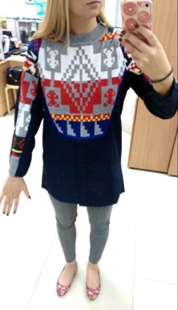 Рубашка темно-синего цвета, размер M
