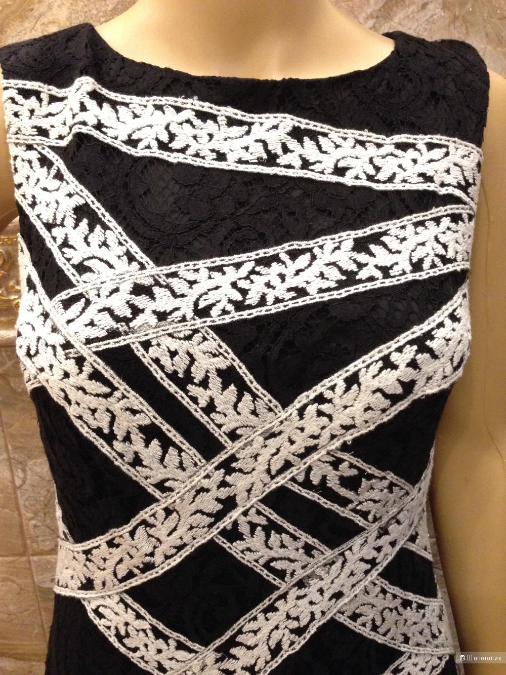 TADASHI SHOJI платье из ажурнейшего кружева двух цветов р.44