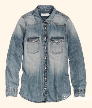 Джинсовая рубашка H&M, 42 размер