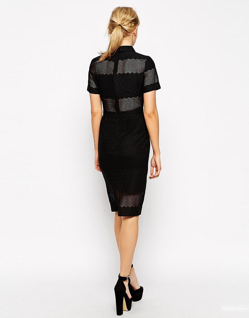 Платье-рубашка с вышивкой ASOS Premium