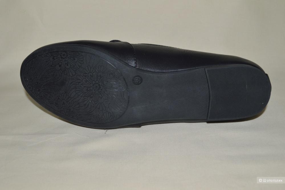 Продам  новые кожаные балетки  черного цвета Ballerinas
