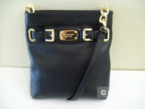Michael Michael  Kors Hamilton Black Large Leather Crossbody