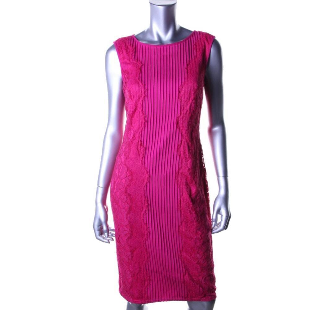 TADASHI SHOJI красивейшее платье с кружевом в боках р.44