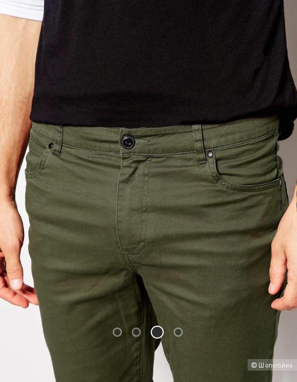 Продам новые мужские брюки Asos, Цвет Хаки. W30 L32.