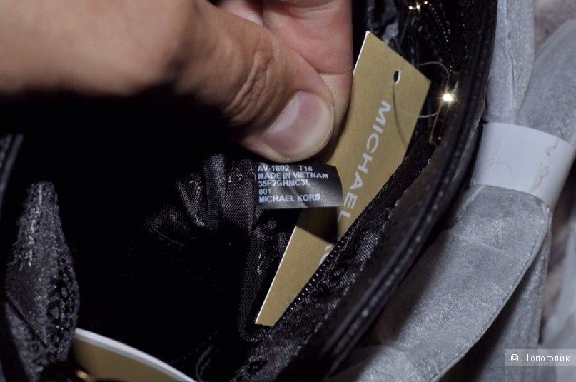 Michael Michael  Kors Hamilton Black Large Leather Crossbody