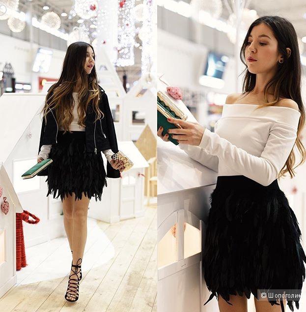 Стильная юбка из перьев