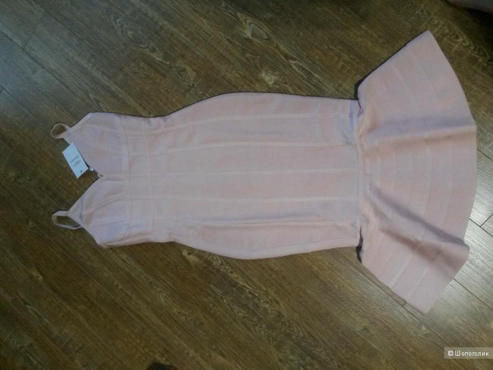 Бандажное платье миди с оборкой на подоле ASOS SCULPT Premium