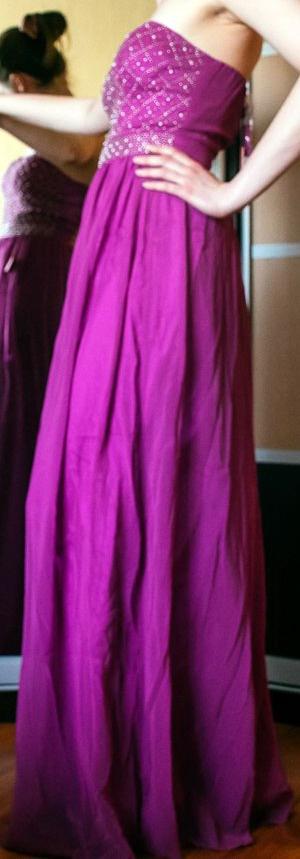 Платье макси с украшенным бисером лифом-бандо Chi Chi London UK6 UK10