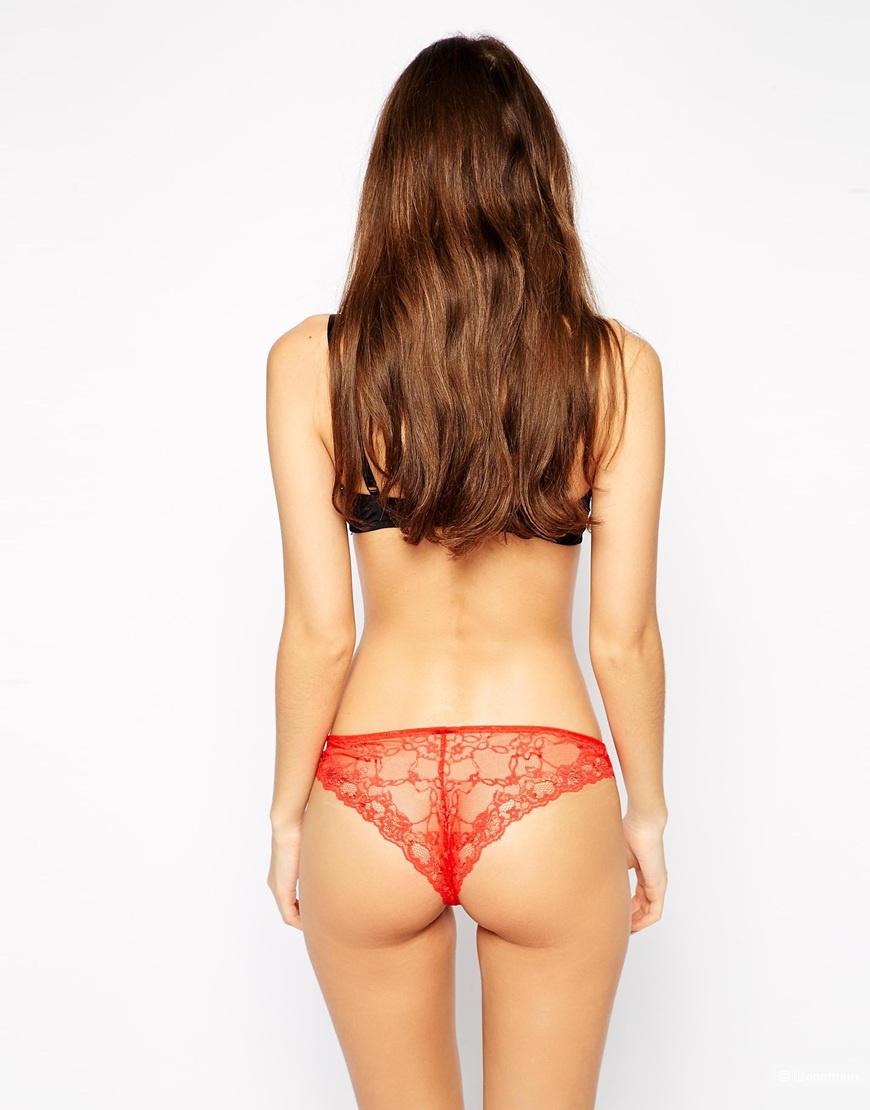 Комплект из 3 пар красных бразильских трусиков ASOS XS или S