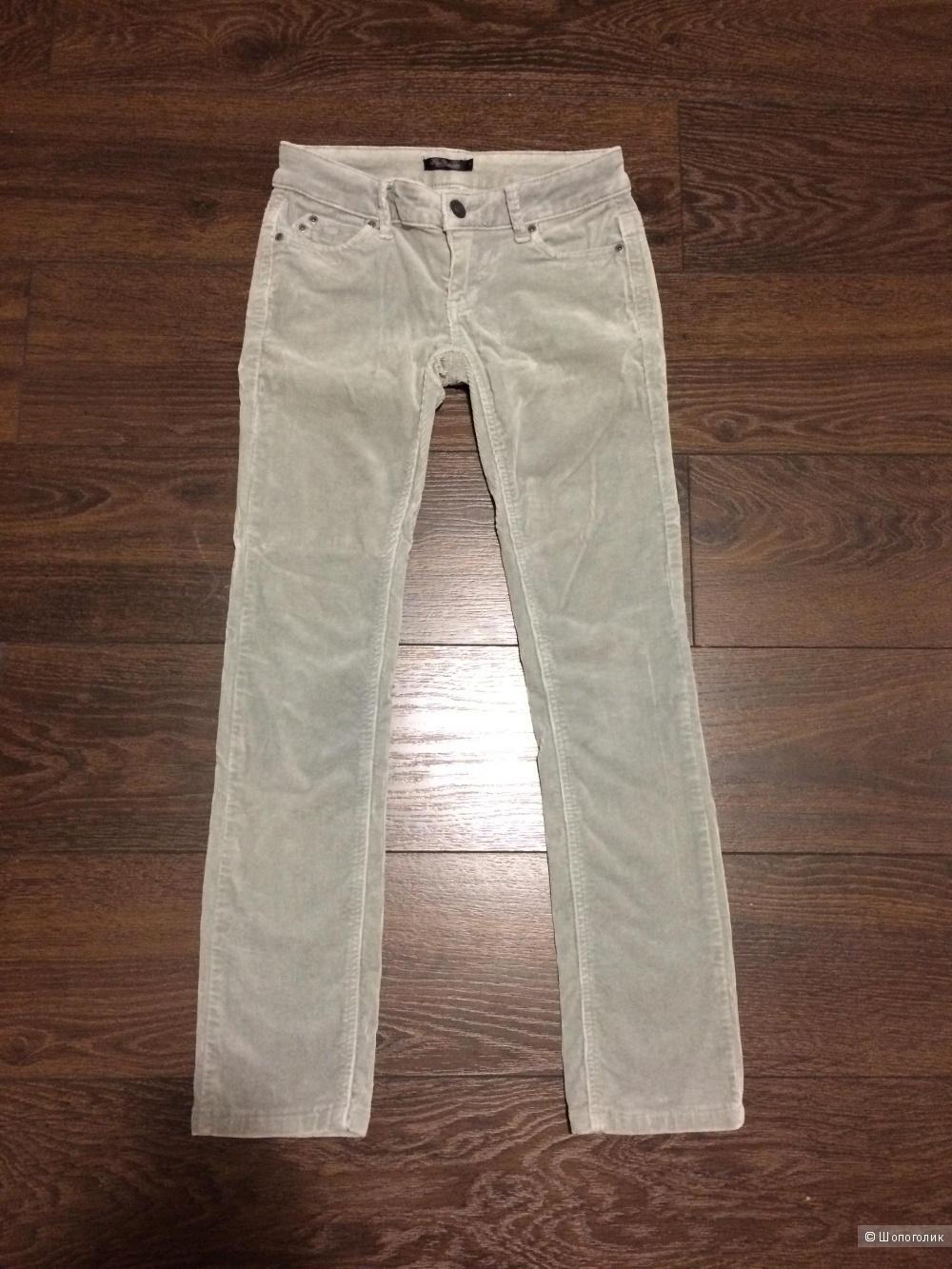 Вельветовые серые брюки/джинсы Kira Plastinina, размер S