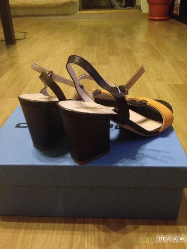 Кожаные босоножки OROSCURO, 38 размер, б/у 1 раз