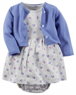 Carter's комплект кофта плюс платье 100% хлопок 12М