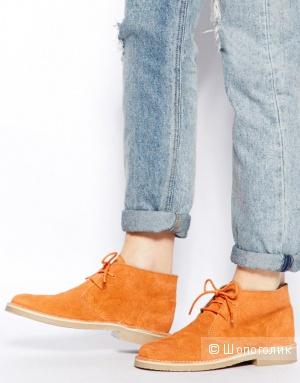 Продам новые стильные женские ботинки из натуральной замши
