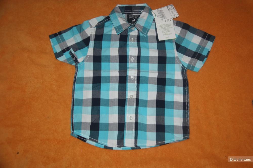Новая рубашка с коротким рукавом на мальчика  Palomino C&A  размер 92 см