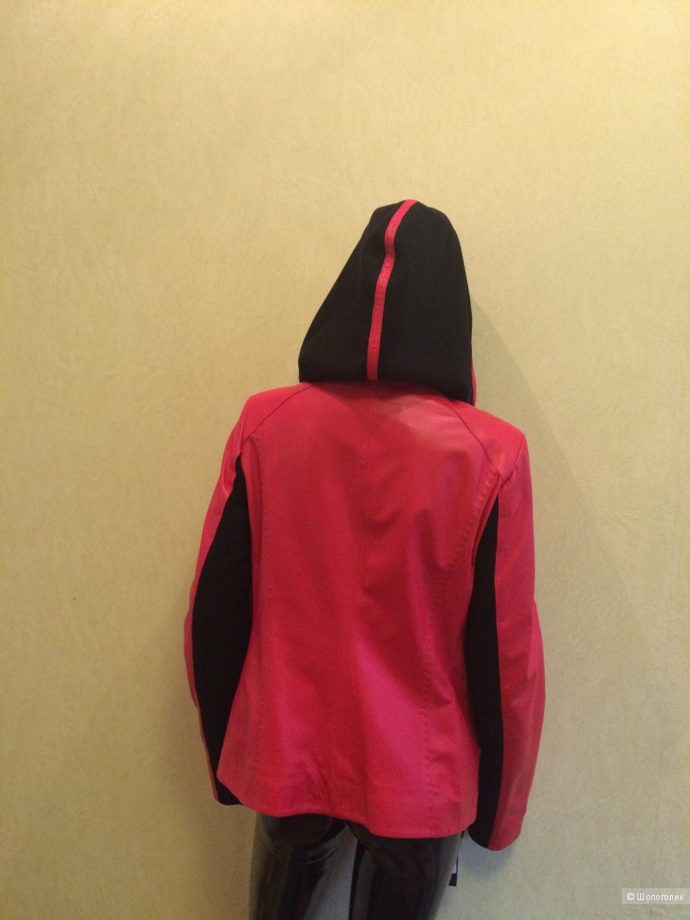Новая кожаная куртка оригинального кроя. Р-р 48-50