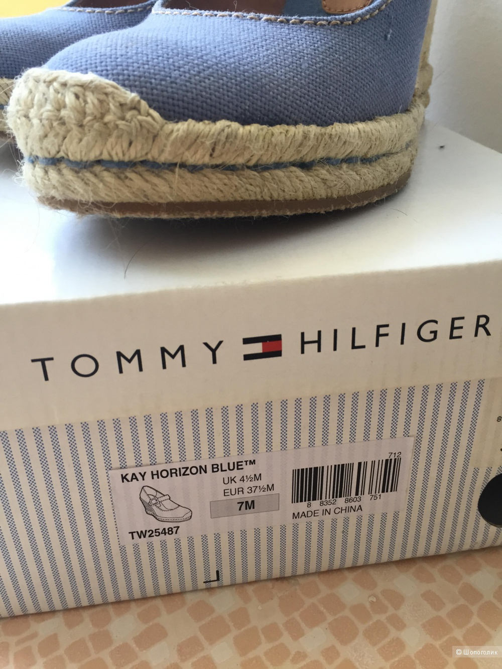 Эспадрильи на платформе Tommy Hilfiger 37 р-р