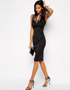 Облегающее платье миди с отделкой кроше Club L UK4