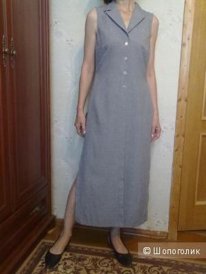 Платье-жилет с боковыми разрезами размер 46