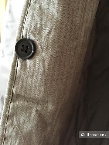 Плащ с подстежкой и капюшоном французской марки COMPTOIR DES COTONNIERS, 40 французский размер. Наш 46.