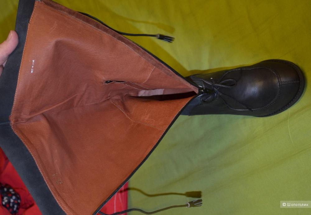 Сапоги высокие осень новые Sachelle Women's Sharm Knee-High Boot,Black,7.5 M US (38) кожа