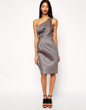 Сетчатое платье-футляр на одно плечо ASOS Premium