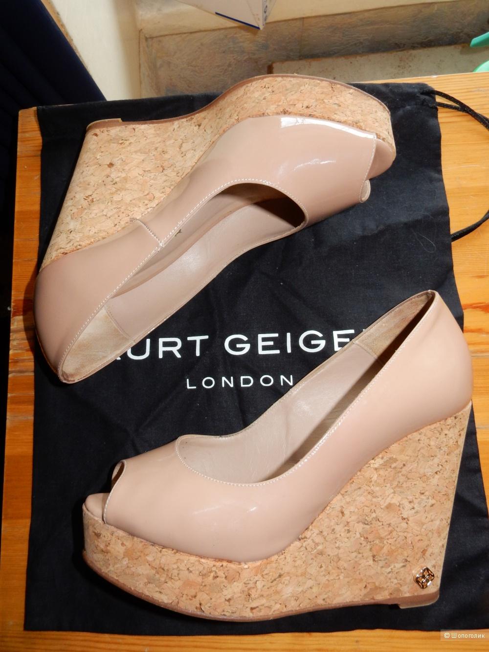 Лаковые туфли Kurt Geiger на танкетке р.36 на 35-35.5
