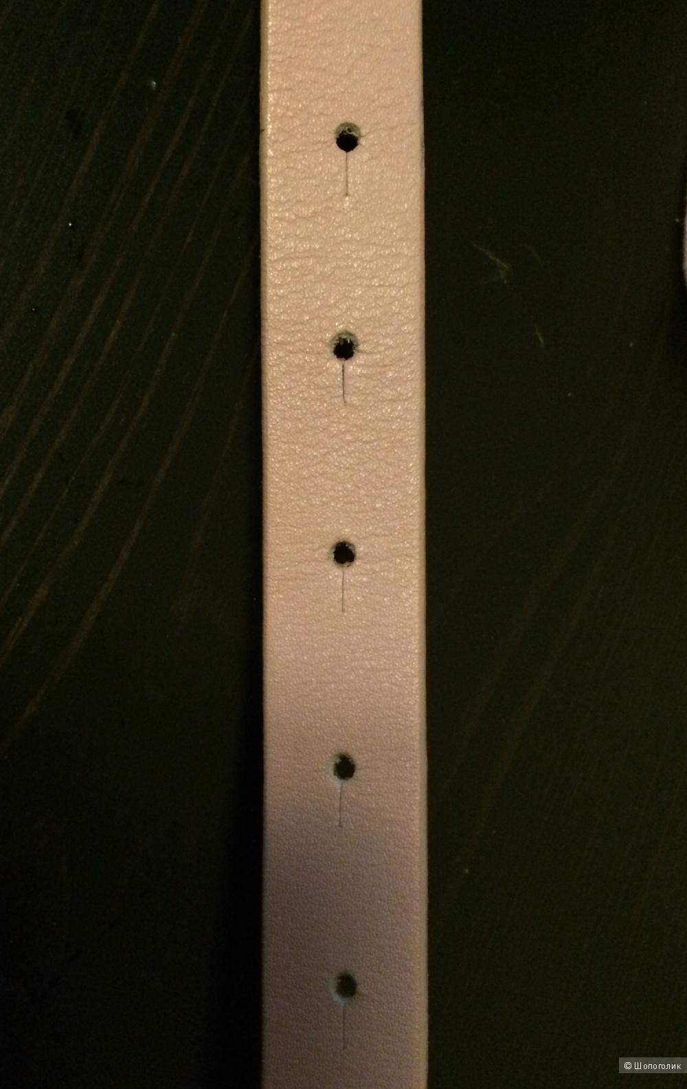 Новый кожаный ремень Furla, цвет нюд, размер S, оригинал