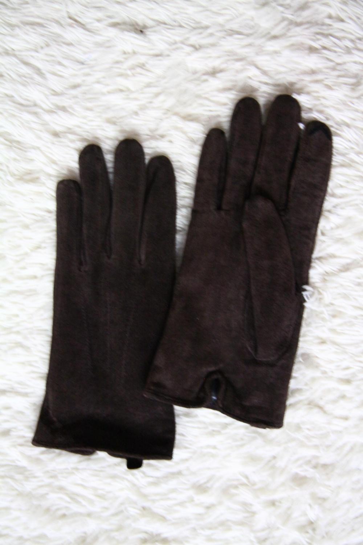 Осенне-зимние перчатки из натуральной замши  uk 8  Alessandro frenza