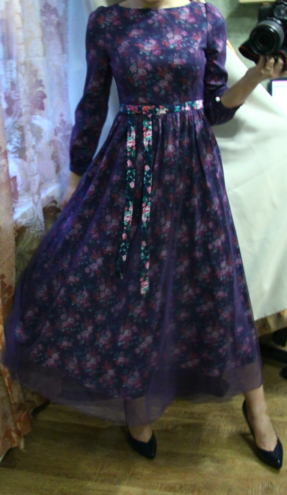 Прекрасное винтажное платье 100% cotton  42/uk8