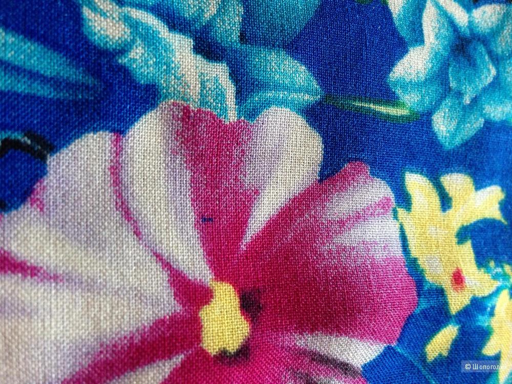 Шикарное летнее платье в пол большого размера р.56 Новое