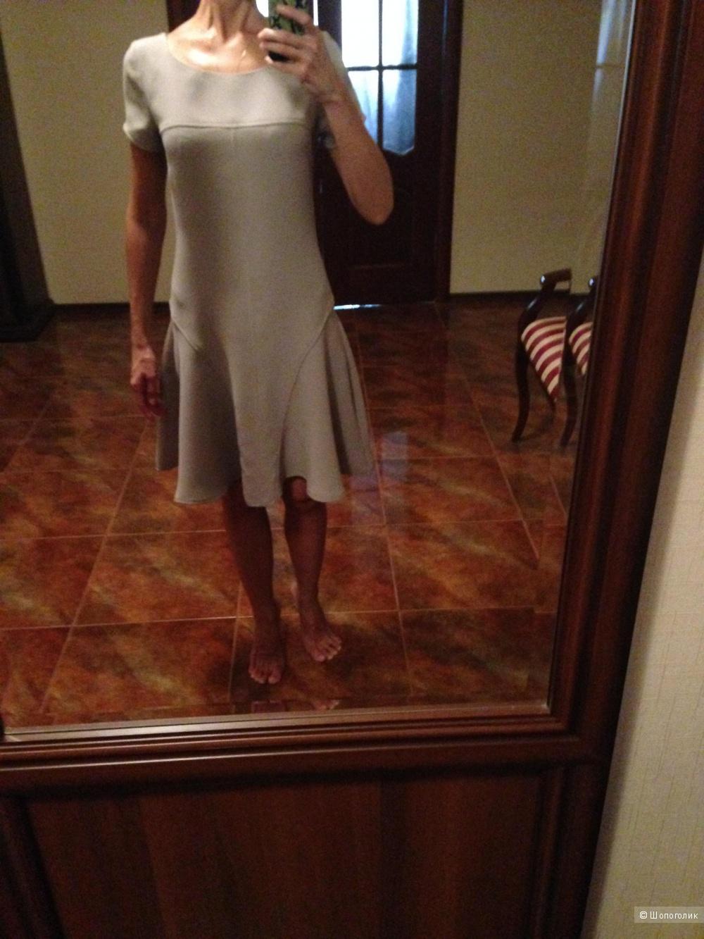 Платье голубиного цвета Angela Mele Milano, размер 42-44