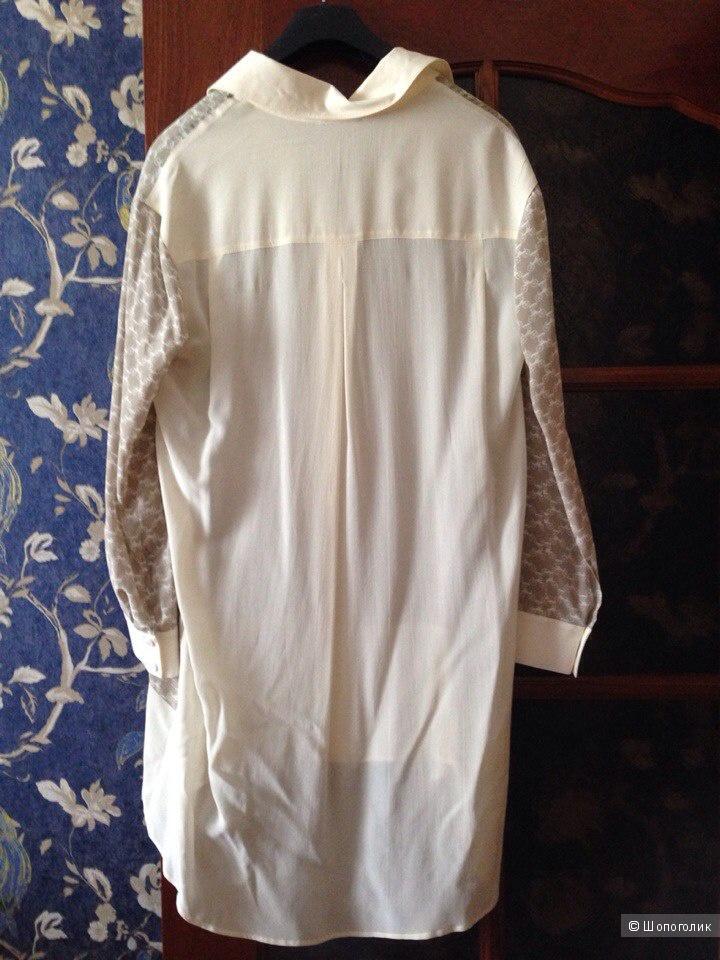 Новая шелковая рубашка-туника Patrizia Pepe Firenze р. 42-44