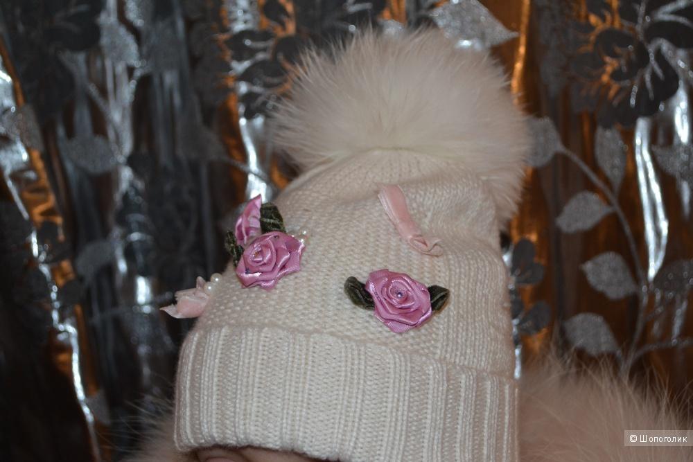Комплектом пух BORELLI (Италия) 4Y +шапка с шарфом и Почта в подарок!!!