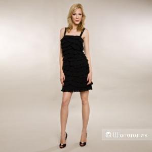 Новое коктейльное шелковое платье Mikel Aghal размер 6 US 44-46 русский