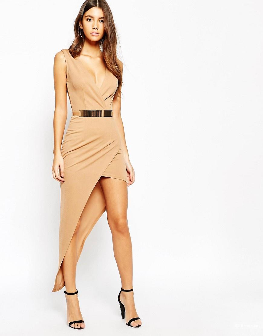 Секси платье нюдового цвета NaaNaa